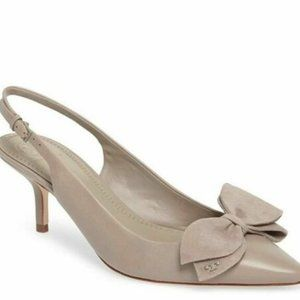 Tory Burch Rosalind Leather Slingback Heels